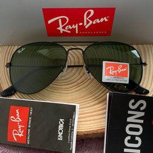 Ray-Ban 3025 Green Aviator Sunglasses 58mm